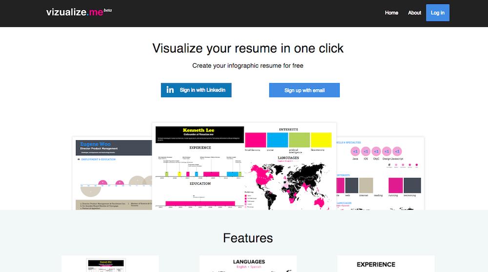 vizualizeme visualize your resume