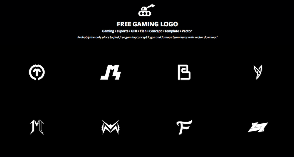 free gaming logo startup collections