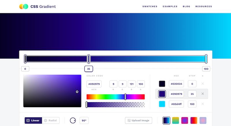 free online gradient generator