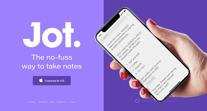 jot to do notes app
